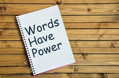 Words have power word Stock Image
