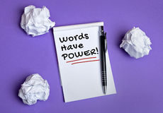 Words have power word Royalty Free Stock Photography