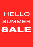 The words Hello Summer Sale on background Royalty Free Stock Images
