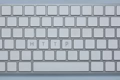 Words http on the computer keyboard with others keys deleted. Words http on the computer keyboard and others keys deleted stock photo