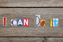 The words i can do it Royalty Free Stock Photo