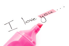 The words I love you Royalty Free Stock Photo