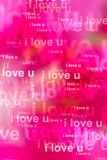 Words i love you as red background Royalty Free Stock Photo
