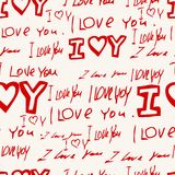Words i love you on pink background Stock Images