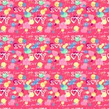 Words i love you on pink background Stock Photos