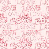 Words i love you on pink background Royalty Free Stock Images