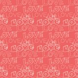 Words i love you on pink background Stock Image