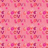 Words i love you on pink background Royalty Free Stock Photography