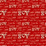 Words i love you on red background Royalty Free Stock Photos