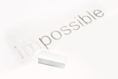 Words Impossible and possible, concept of Making Changing Stock Photos