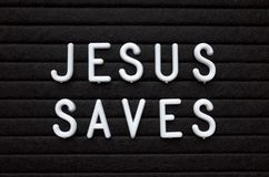 Jesus Saves Reminder on a Notice Board