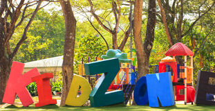 The words 'kids zone' - Stock Image Royalty Free Stock Photo