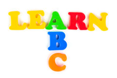 Words Learn and ABC Stock Image