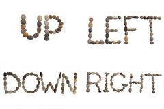 The words left, right, up, down Royalty Free Stock Image
