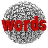 Words Letter Ball Sphere Messages Abstract Word Alphabet Royalty Free Stock Photos