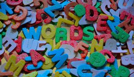Words and letters Royalty Free Stock Photography