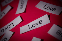 Words of love stock image