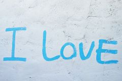 Words of love on the wall Stock Photos