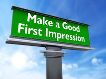 Make a good first impression royalty free illustration