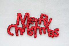 The words Merry Christmas Stock Photo