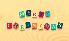 Words merry christmas with colorful blocks Stock Photo