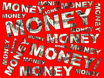 Words Money from dollars Royalty Free Stock Photography