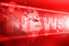 Words News. On digital red background Stock Photography