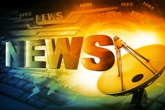 Words News royalty free stock photography
