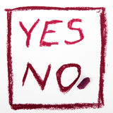 Words NO and YES Royalty Free Stock Image