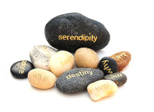 Words on pebbles Royalty Free Stock Photos