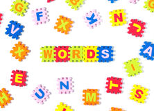 Words in puzzle Stock Photos