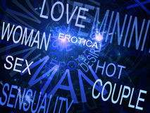 Words related with sexuality Stock Photo
