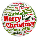 Words related to Christmas and celebration Royalty Free Stock Photography