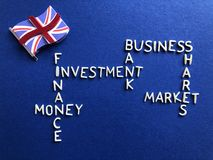 British business, banking and finance, creative concept royalty free stock photography