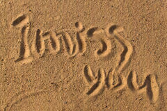Words on sand Royalty Free Stock Photo