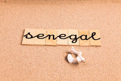 Words on sand senegal Stock Photography