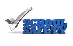 School Safety - Gun Control. The words SCHOOL SAFETY rendered in 3D with a checkmark in the word vote Stock Images