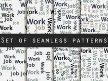 Words seamless pattern, word collage, words design. Seamless pattern with words. Association with the work search. Stock Images