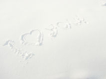 Words snow Stock Photography
