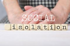 Free Words SOCIAL ISOLATION Composed Of Wooden Made Dices Royalty Free Stock Photos - 156142908
