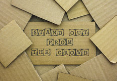 Words Stand Out From The Crowd Stock Images