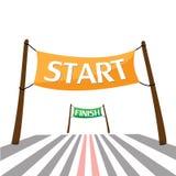 Words start and finish. Stock  illustration. Set of banners with the words start and finish. Stock  illustration Royalty Free Stock Photo