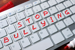 Words stop bullying. Stock Photography