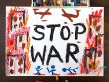 Words stop war Stock Photo