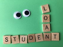 The words Student Loan, Creative concept stock image