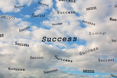The Words Success In The Sky Stock Images