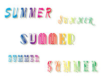 Words Summer. Stock Images