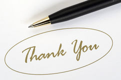 The words Thank You Stock Photography