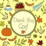 The words Thank You, God, done on the autumn background Stock Photography