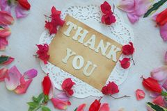 The words THANK YOU Royalty Free Stock Photography